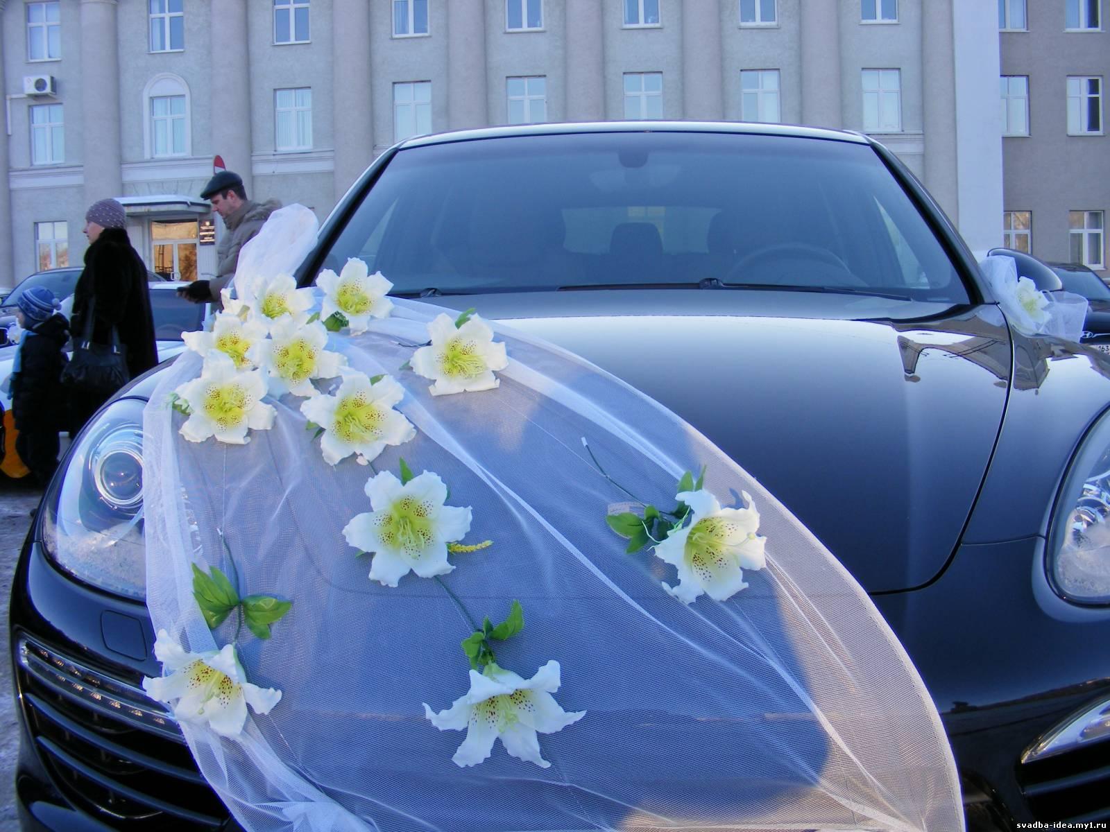 Оформление машин на свадьбу фото своими руками 90